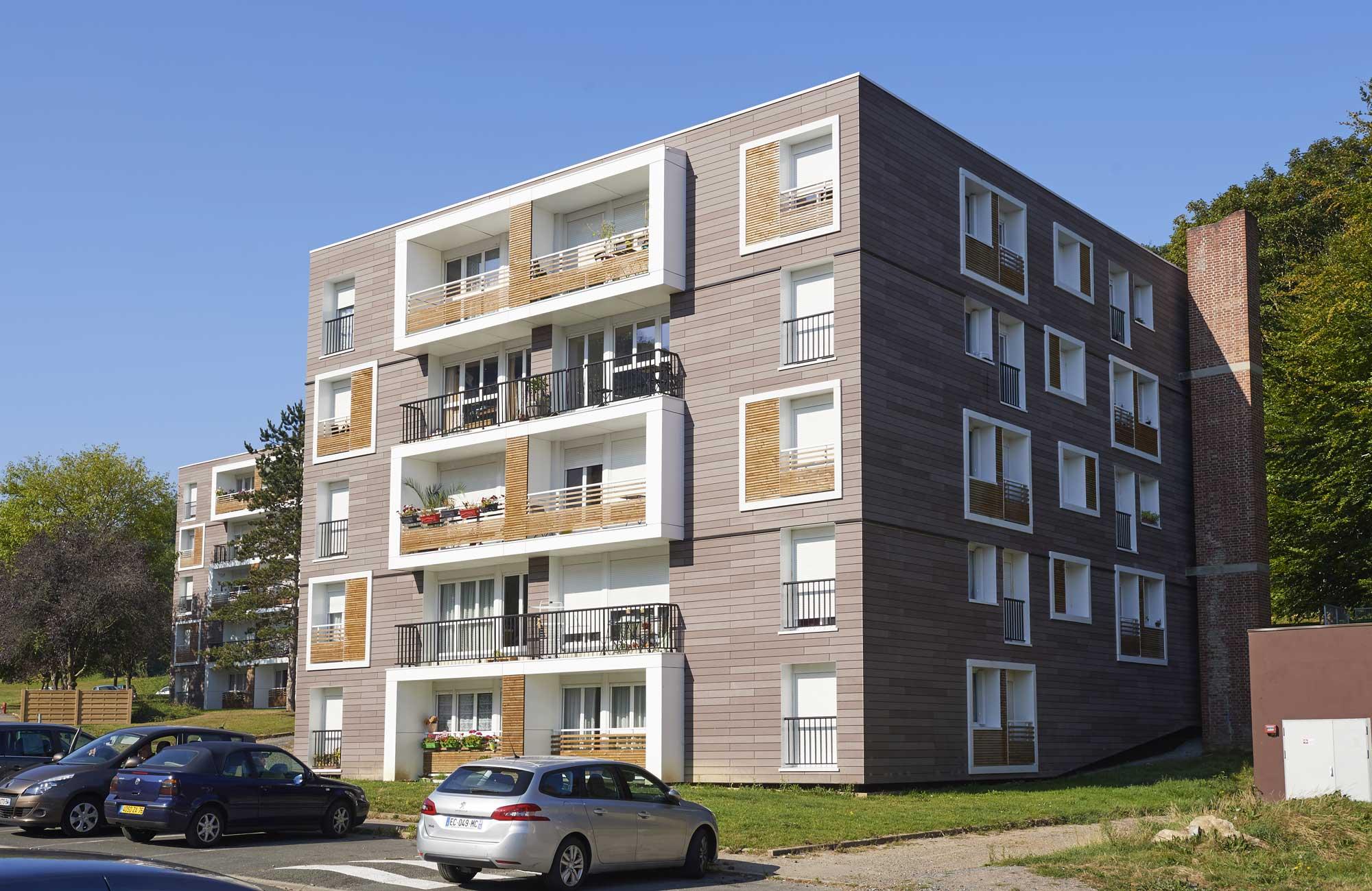 agence schneider caen architecte urbaniste normandie logements rehabilitation facade thermique. Black Bedroom Furniture Sets. Home Design Ideas