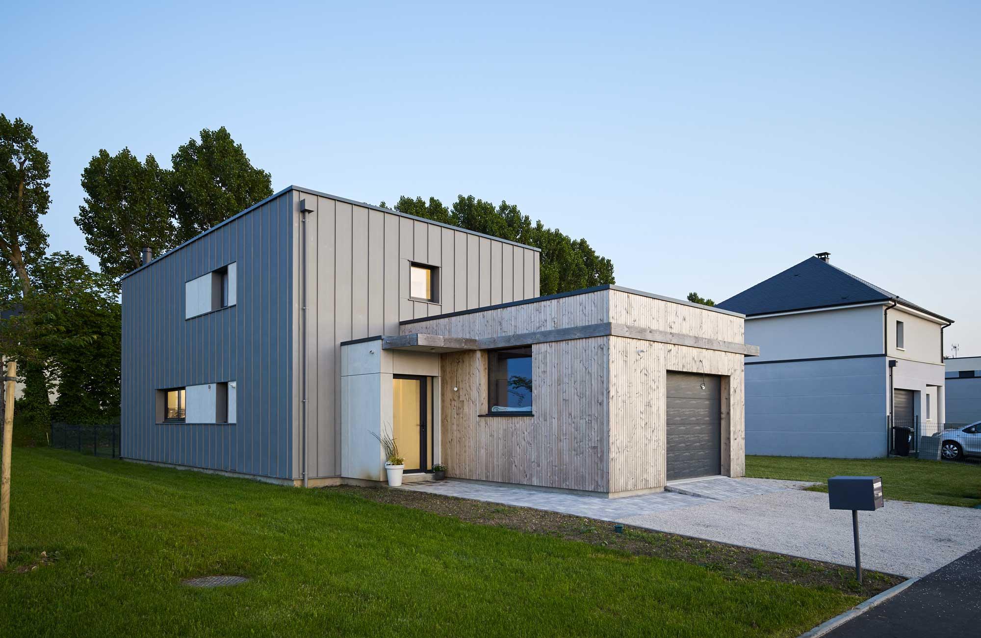 maison architecte zinc